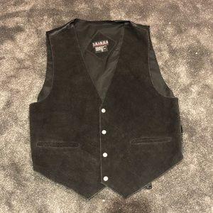 Mens vintage leather vest